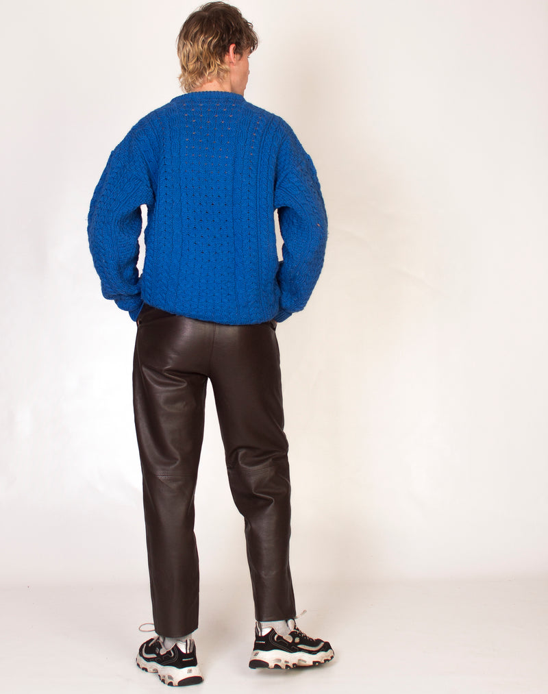 COBALT BLUE KNITTED JUMPER