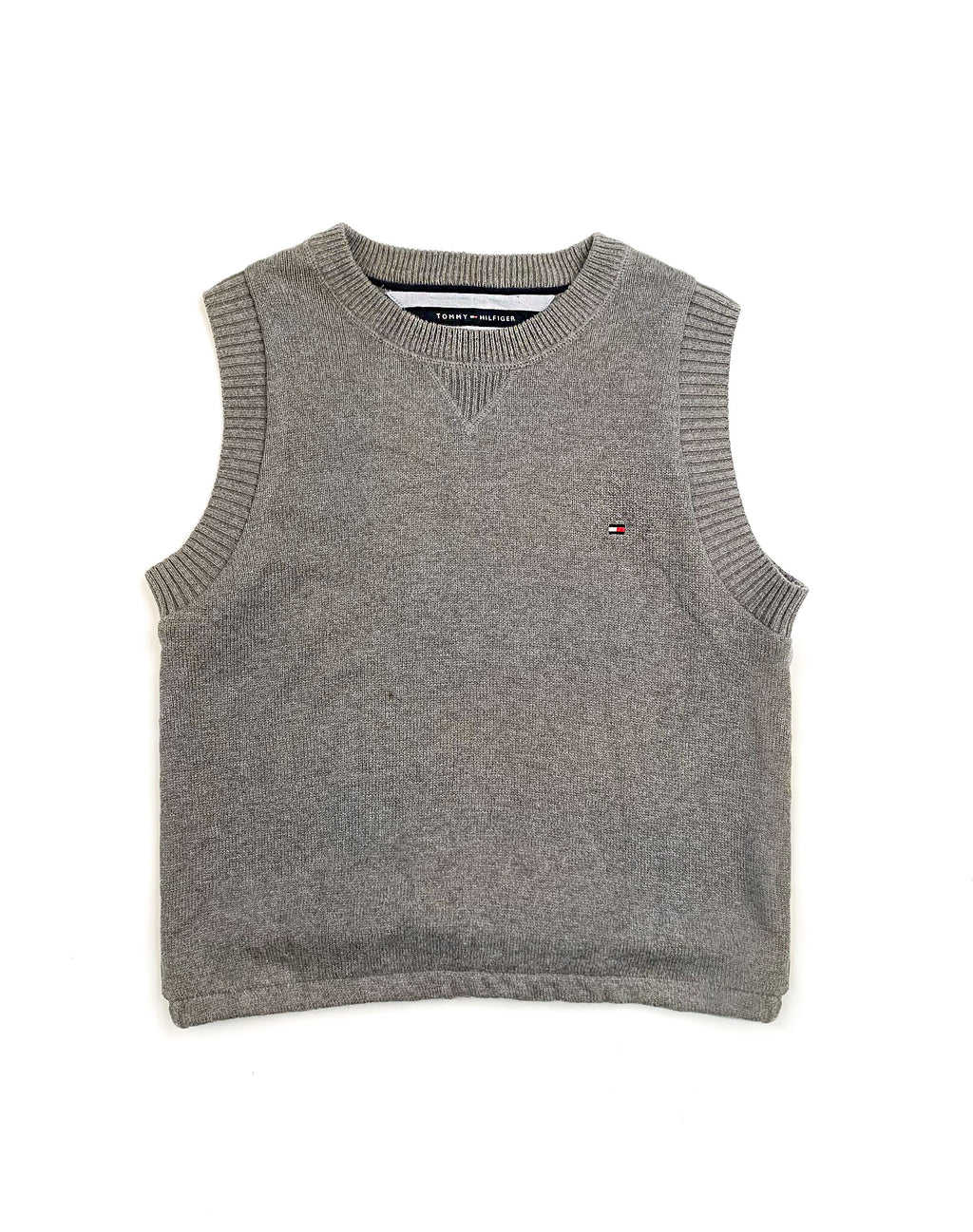 TOMMY HILFIGER GREY SWEATER VEST