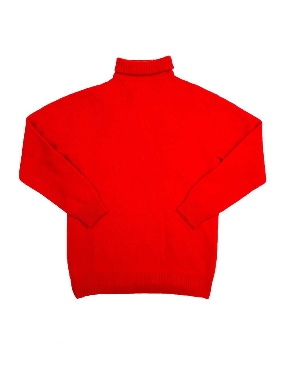 KAPPA RED MOHAIR TURTLE NECK JUMPER