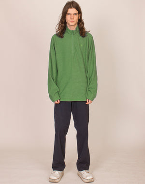 NORTH FACE GREEN WAFFLE PULLOVER