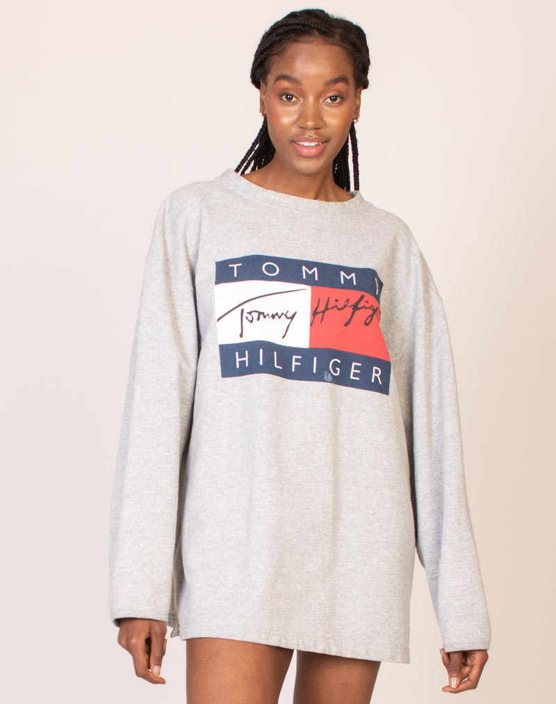 TOMMY HILFIGER GREY JUMPER
