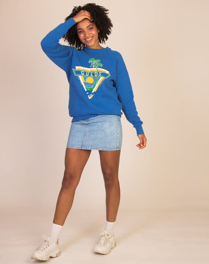 GRAPHIC BLUE SWEATSHIRT