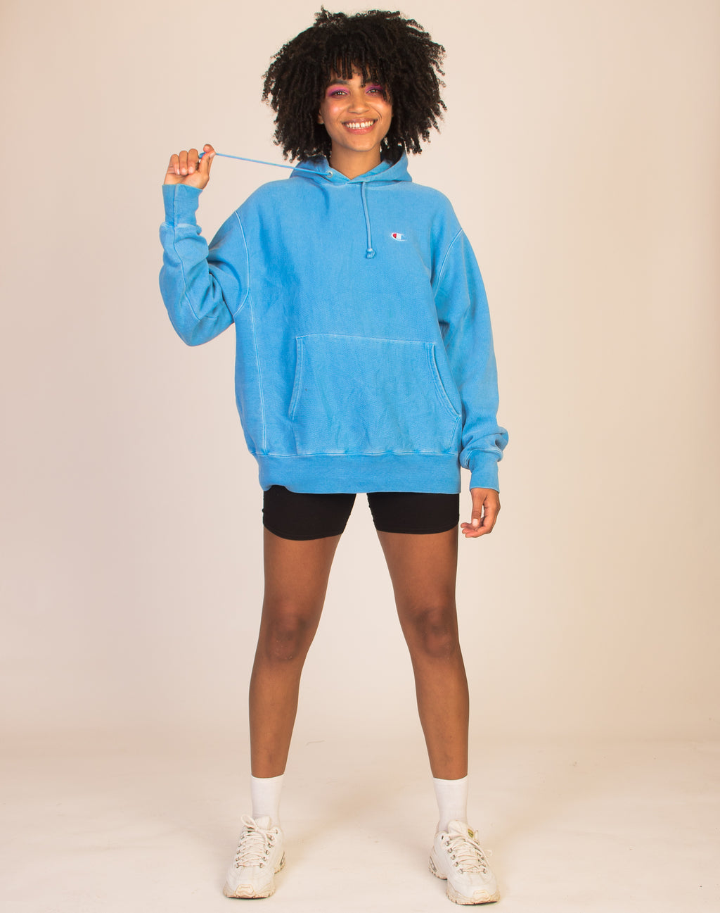 CHAMPION SKY BLUE OVERSIZED HOODIE