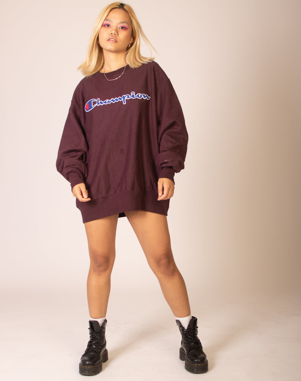 CHAMPION OVERSIZED BURGUNDY JUMPER