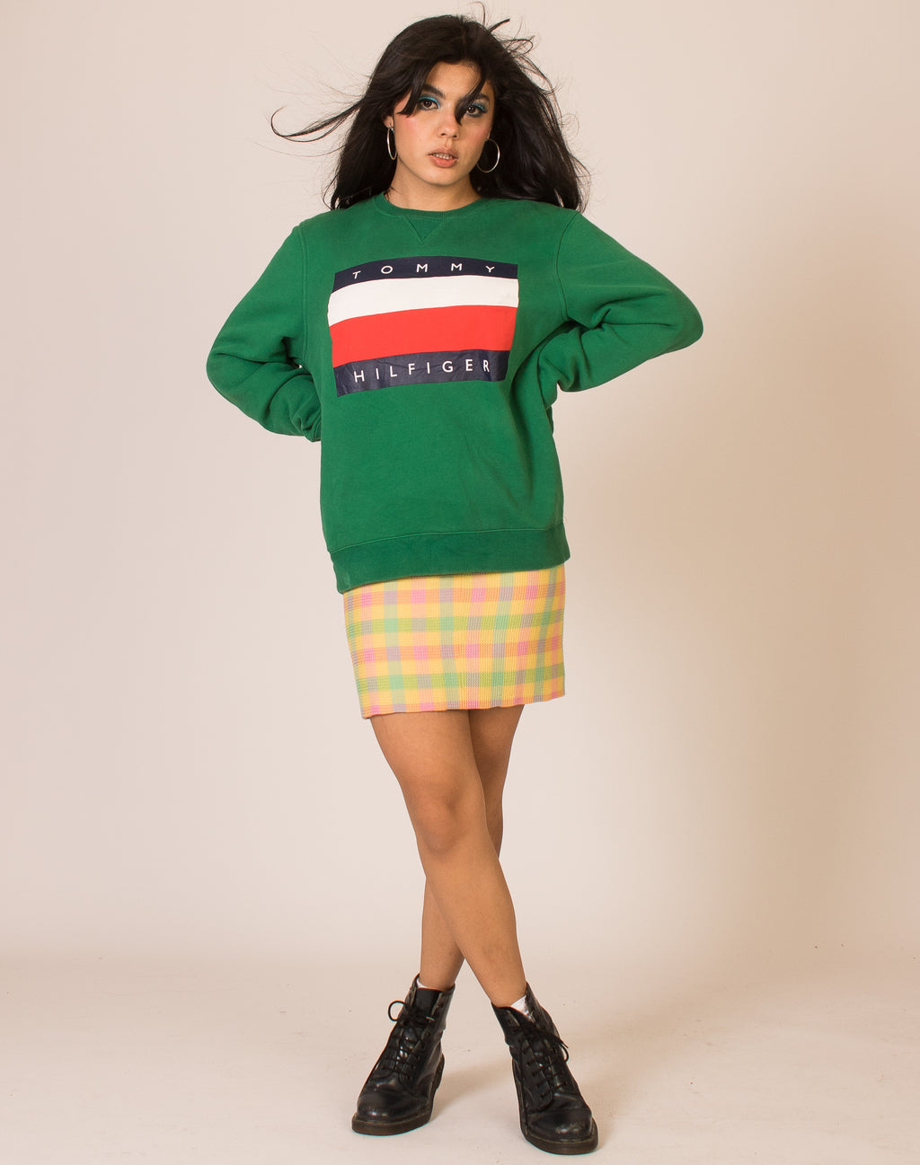 TOMMY HILFIGER GREEN SWEATSHIRT