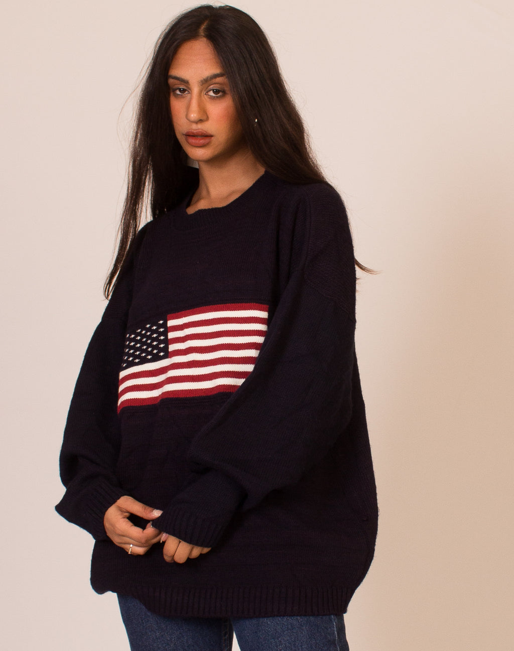 AMERICAN FLAG KNITTED JUMPER