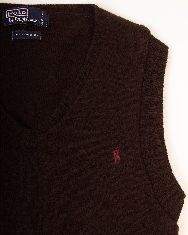 RALPH LAUREN BLACK SWEATER VEST