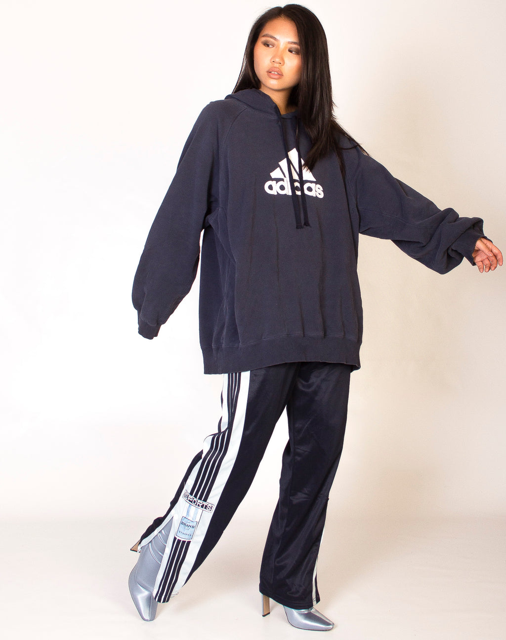 ADIDAS CLASSIC NAVY HOODIE