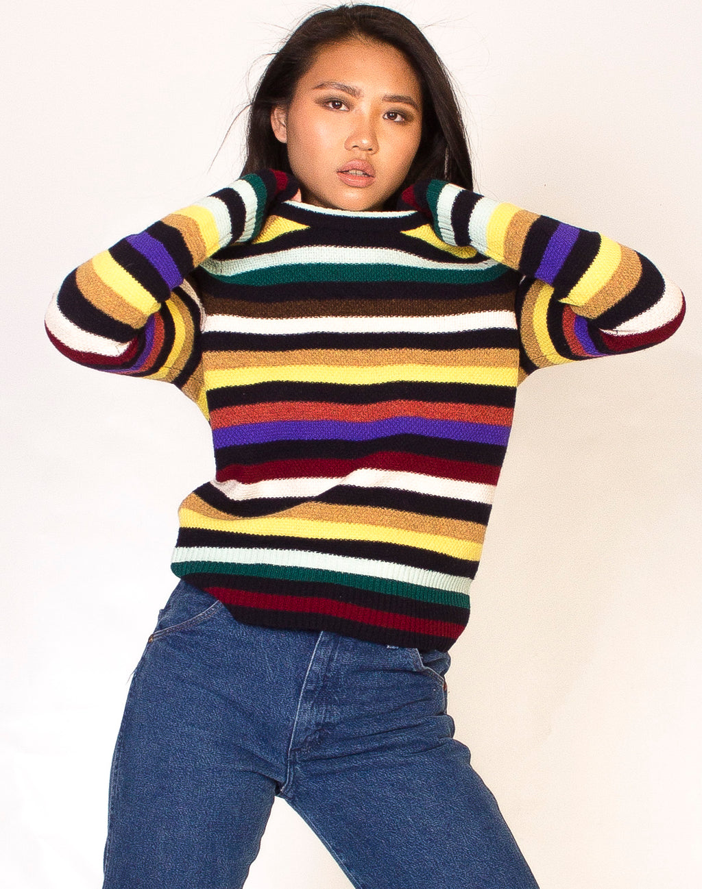MULTI COLOUR STRIPE JUMPER