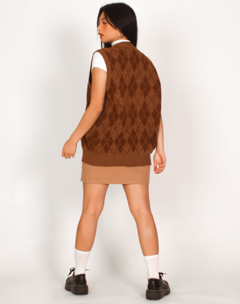 BROWN ARGYLE SWEATER VEST
