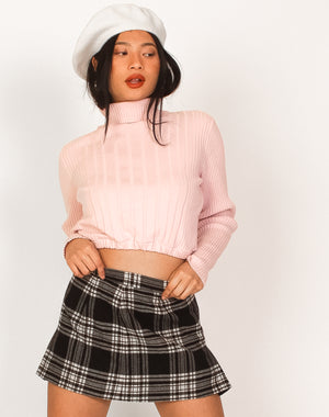 PINK TURTLE NECK JUMPER