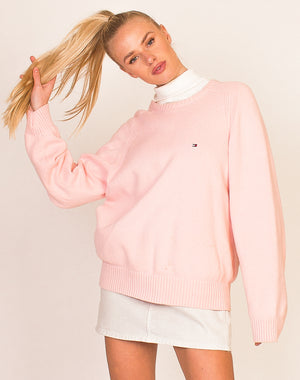TOMMY HILFIGER BABY PINK KNITTED SWEATER
