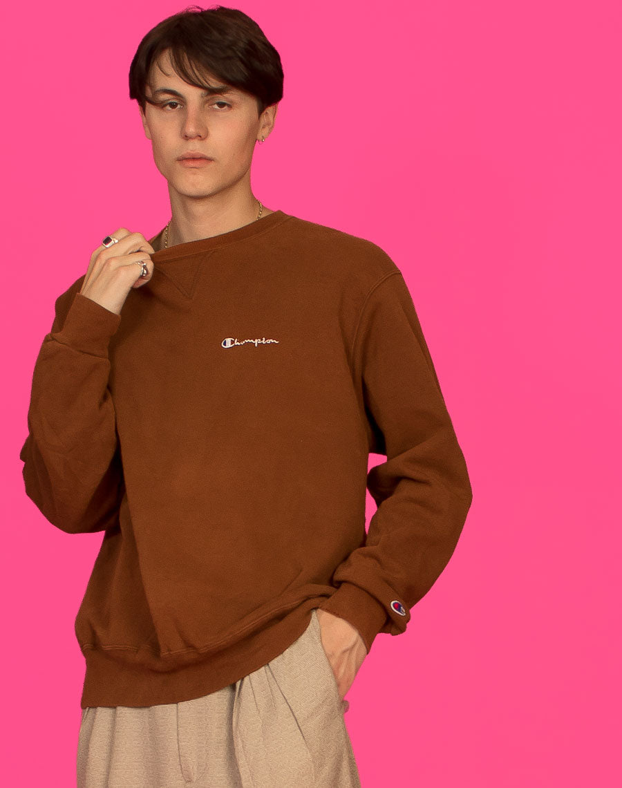 BROWN CHAMPION SWEAT