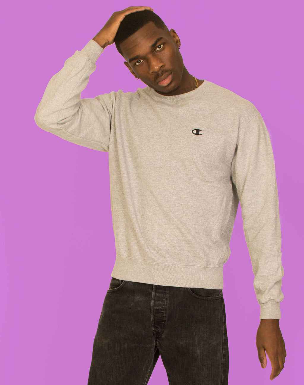 CHAMPION PALE GREY SWEATER