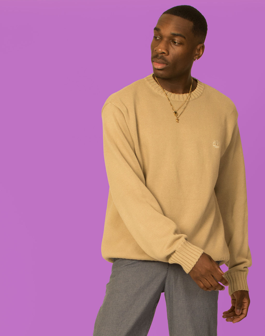 TIMBERLAND CREAM KNIT JUMPER