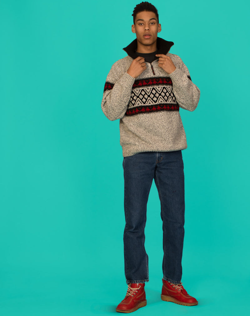 BLUE FAIRISLE JUMPER