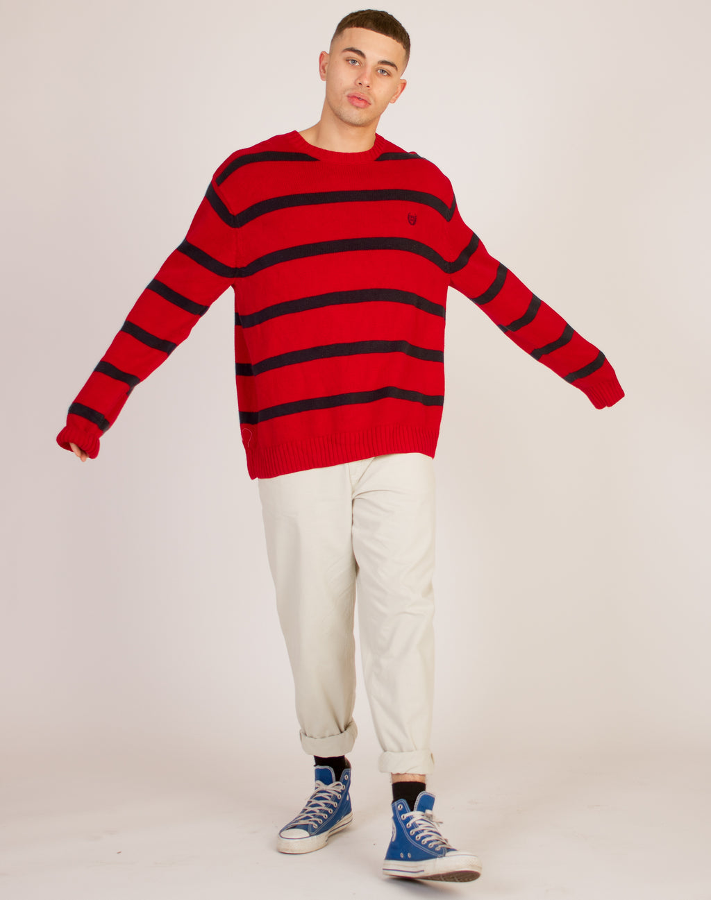 CHAPS STRIPED JUMPER