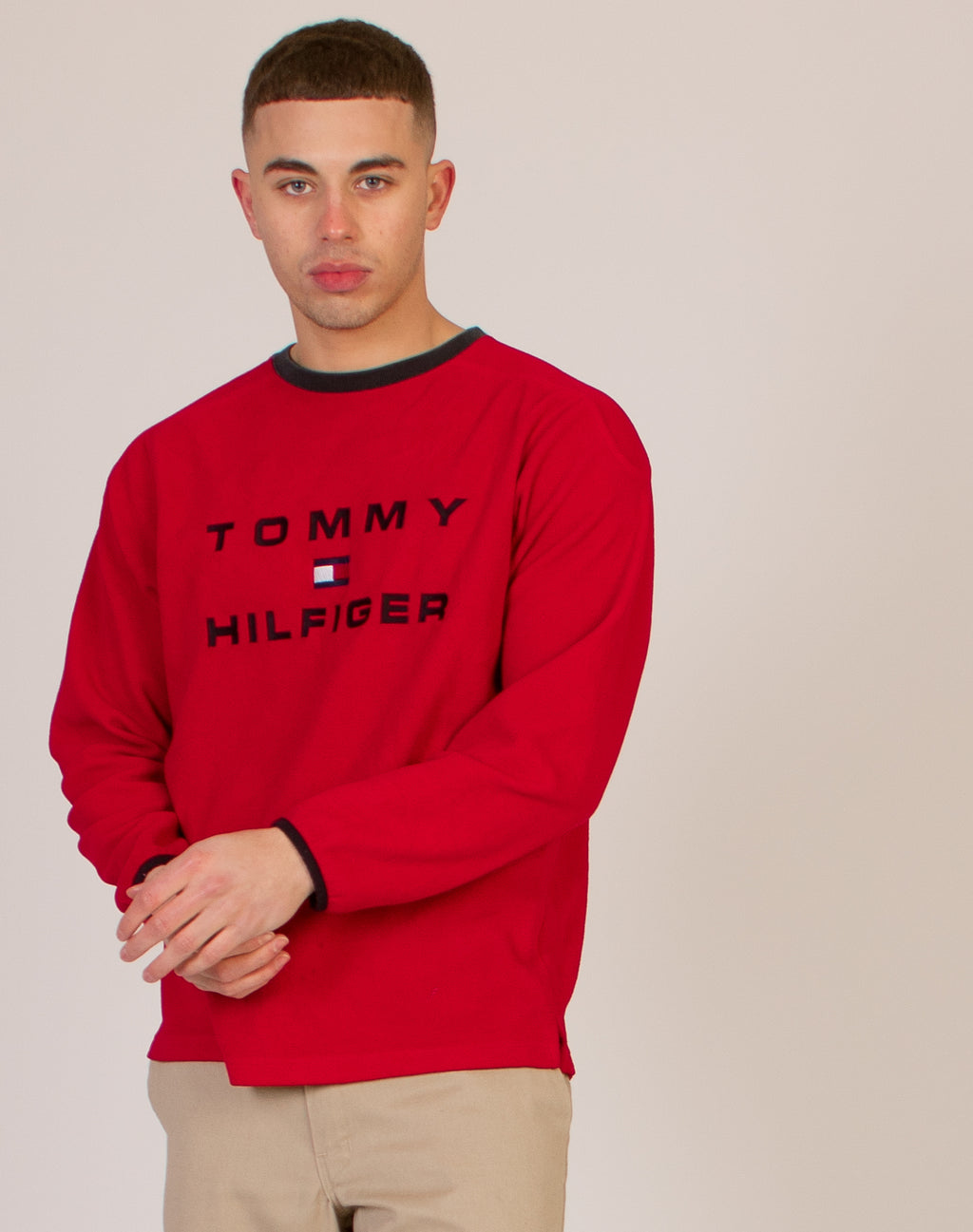 TOMMY HILFIGER RED JUMPER