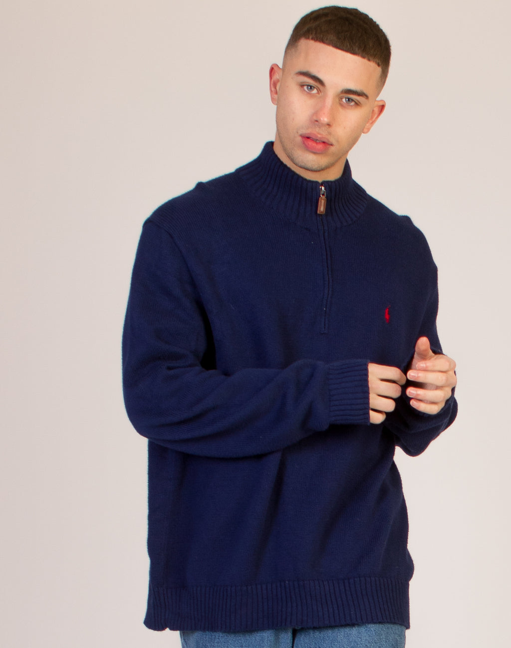 RALPH LAUREN BLUE KNITTED JUMPER