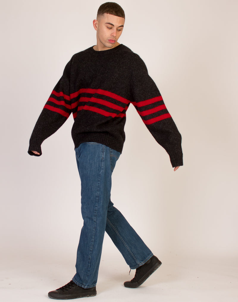 GAP BLACK WOOL STRIPED JUMPER