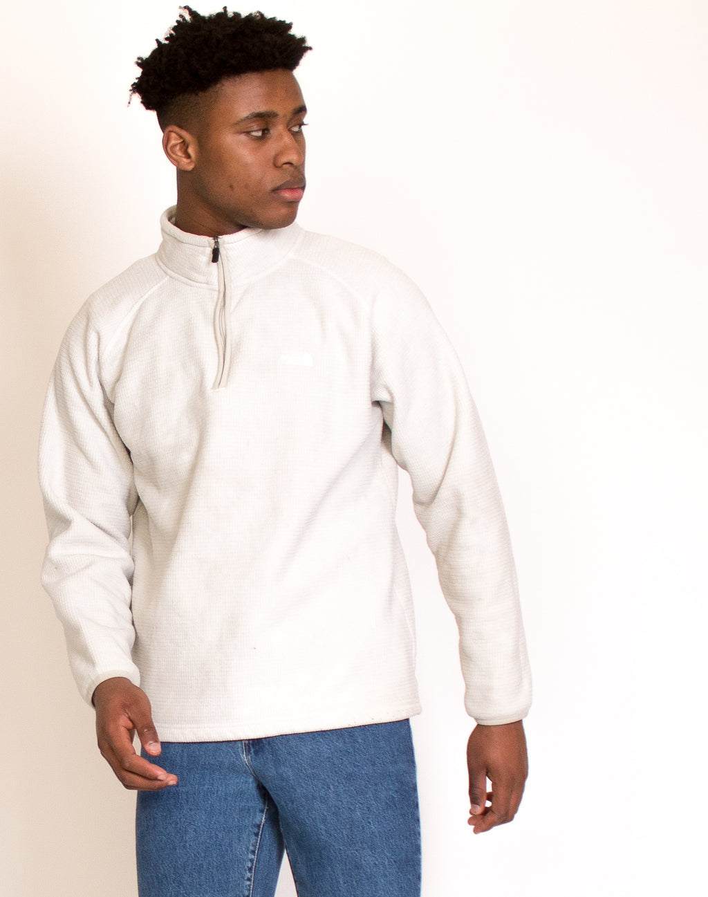 NORTH FACE OFF WHITE WAFFLE FLEECE