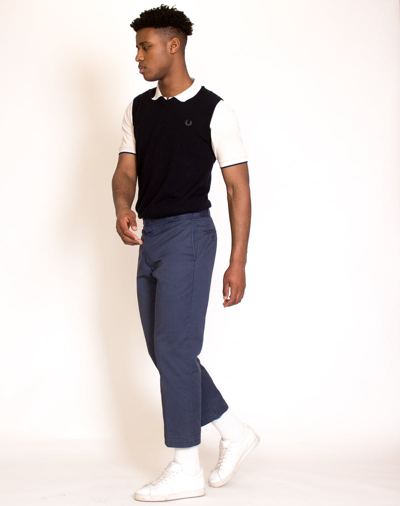 FRED PERRY BLUE SWEATER VEST