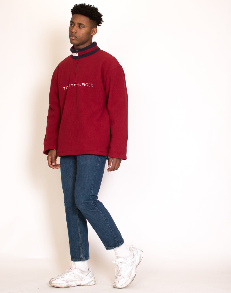 TOMMY HILFIGER RED FLEECE