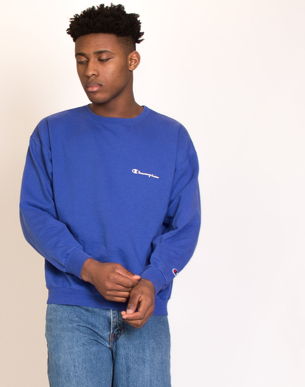 CHAMPION BLUE SWEATSHIRT