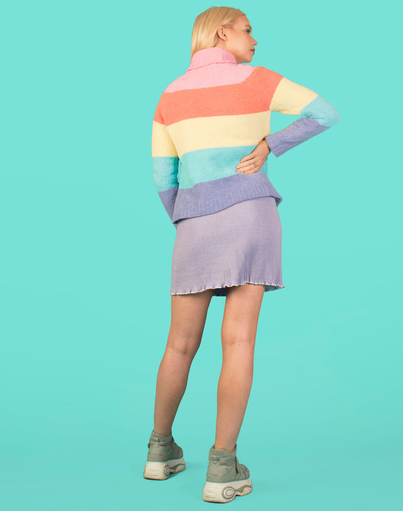 PASTEL RAINBOW KNIT JUMPER