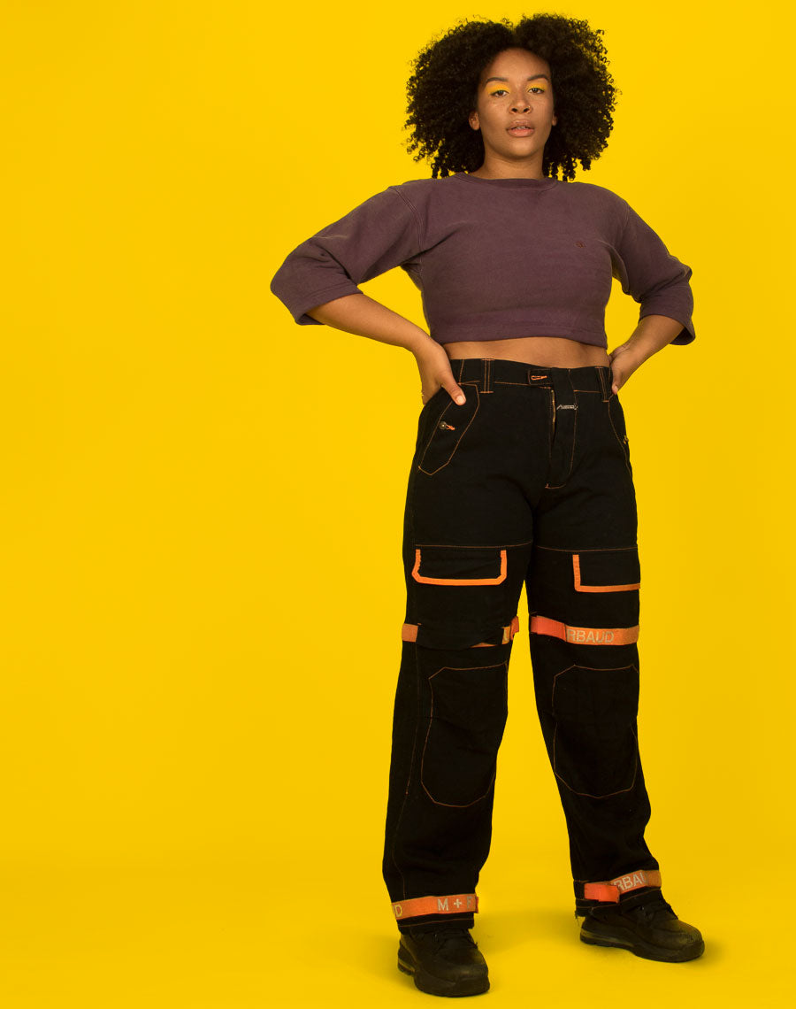 CHAMPION PURPLE CROPPED JUMPER