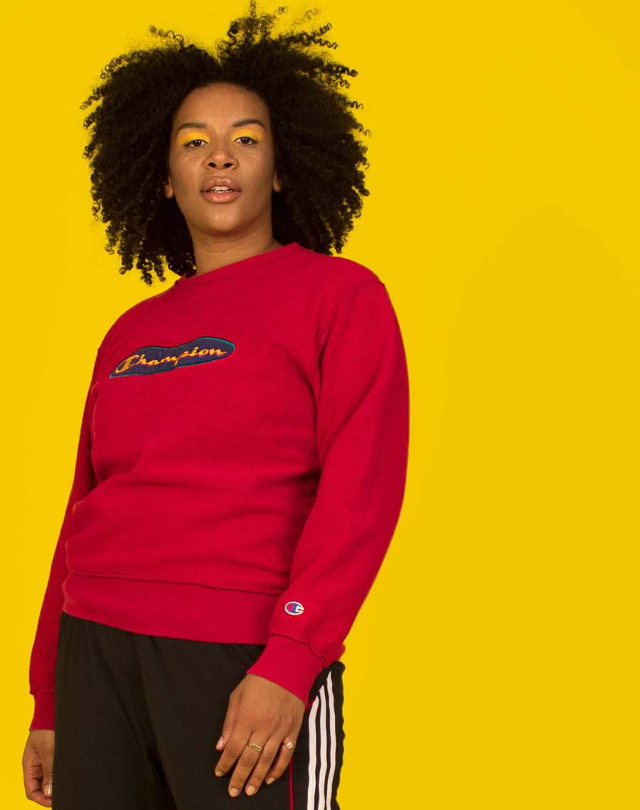 CHAMPION RED 90'S SWEATER
