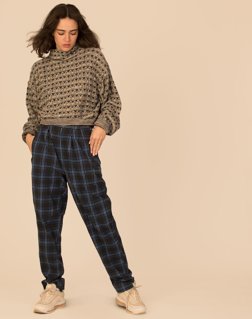 FAIRISLE KNITTED CROPPED JUMPER