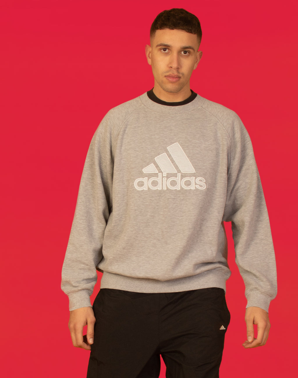 ADIDAS GREY SWEATSHIRT