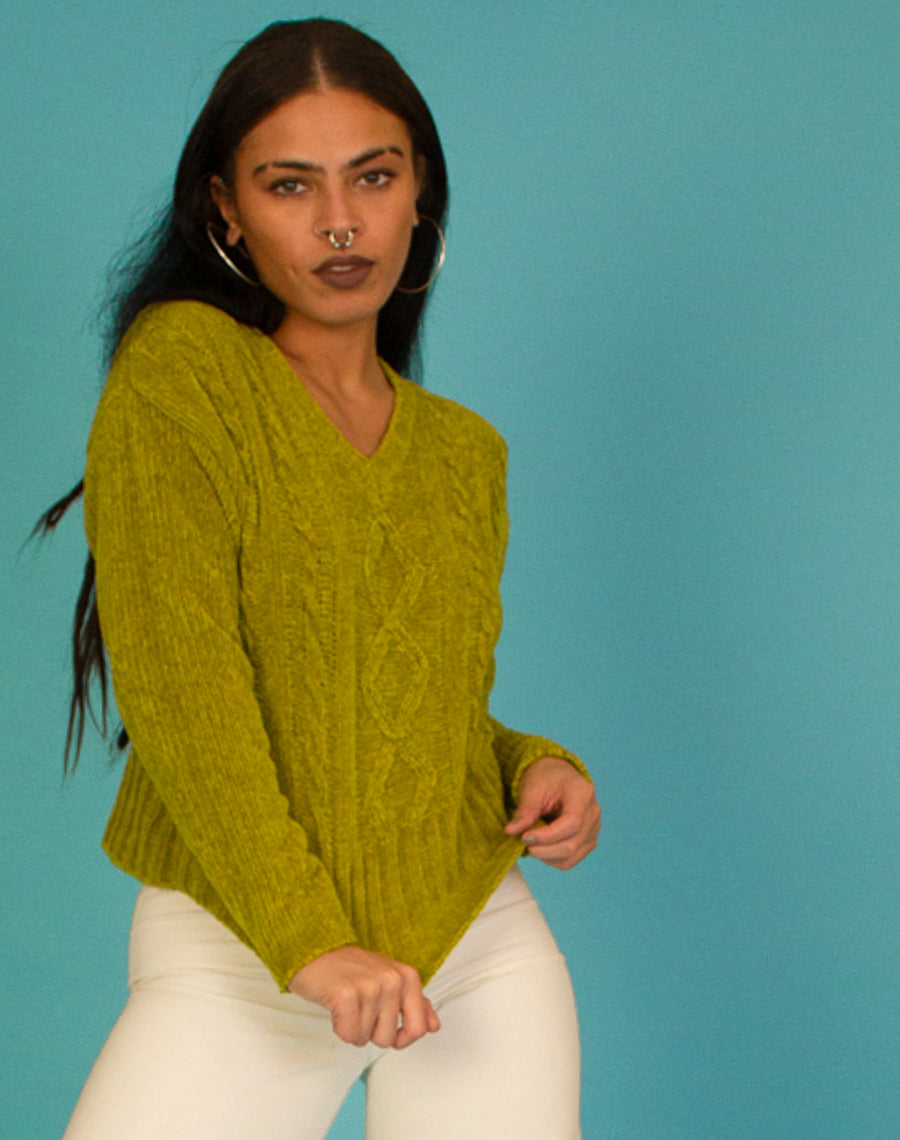GREEN WOOL JUMPER