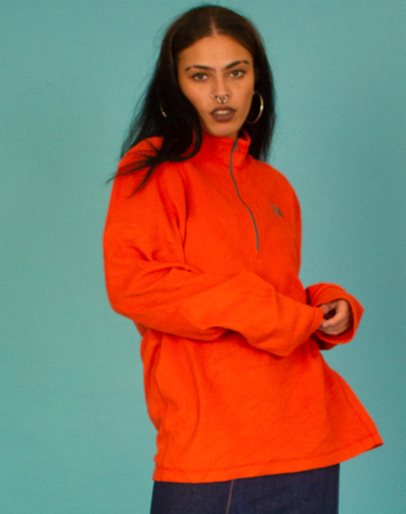 NORTH FACE ORANGE FLEECE
