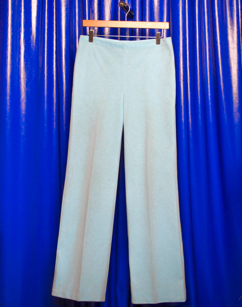 PASTEL BLUE WIDE LEG TROUSERS