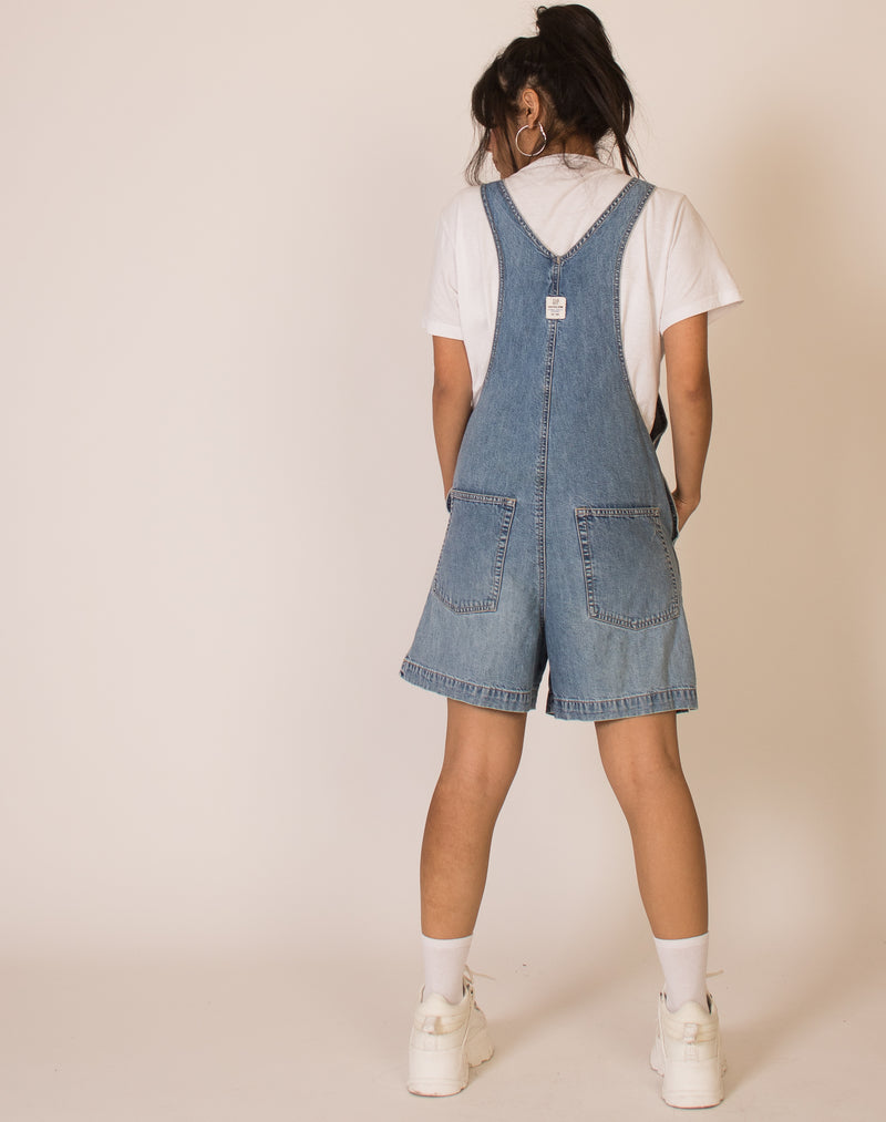 GAP MID-WASH DENIM PLAYSUIT