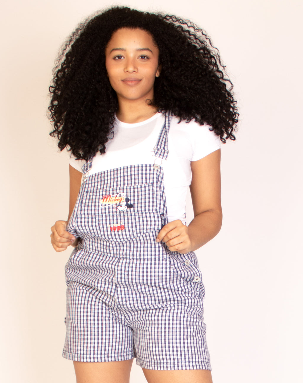 DISNEY BLUE CHECKERED DUNGAREES
