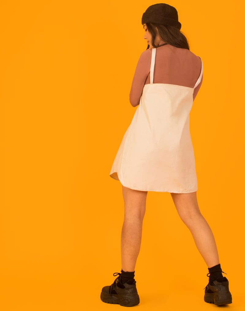 RALPH OLLIE SLIP DRESS IN OFF WHITE