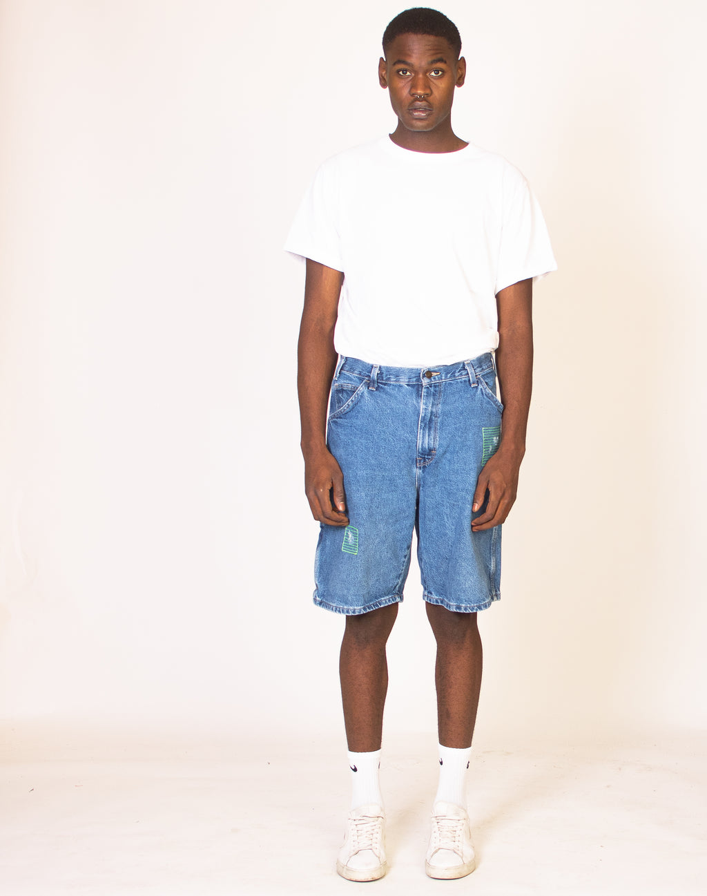 DICKIES APPLIQUE DENIM SHORTS