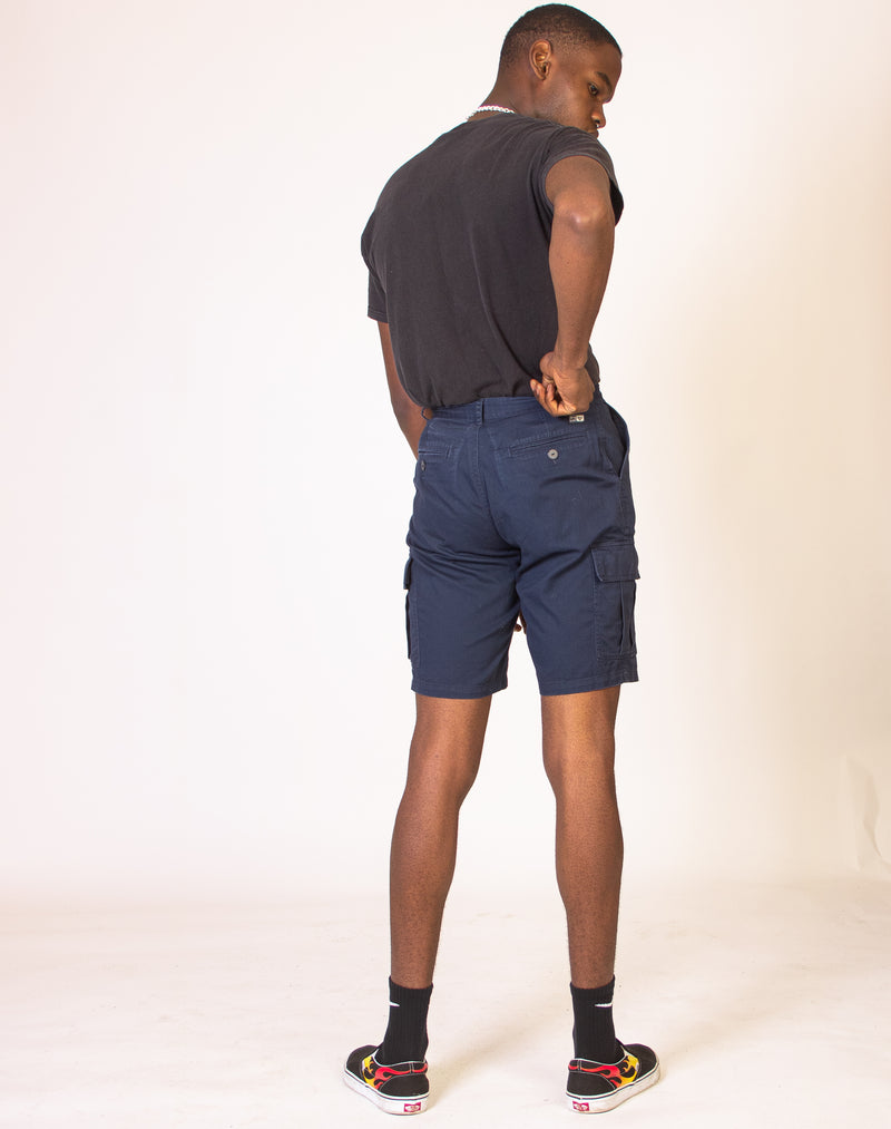 MIDNIGHT BLUE CARGO SHORTS