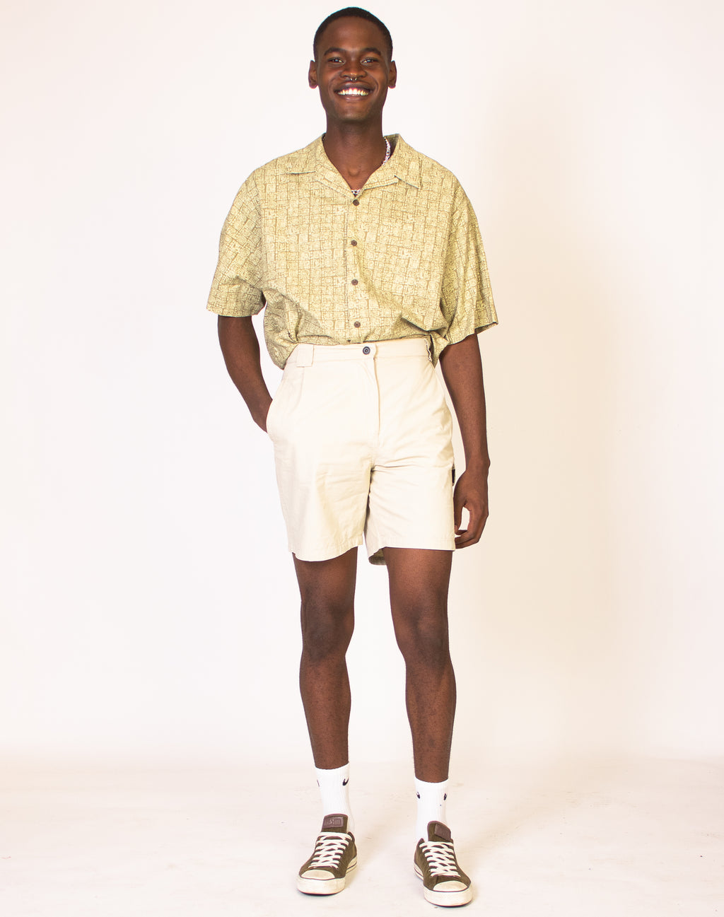 ALMOST OYSTER CARGO SHORTS
