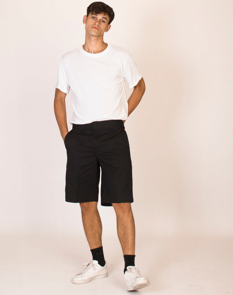 DICKIES BLACK RELAXED FIT SHORTS