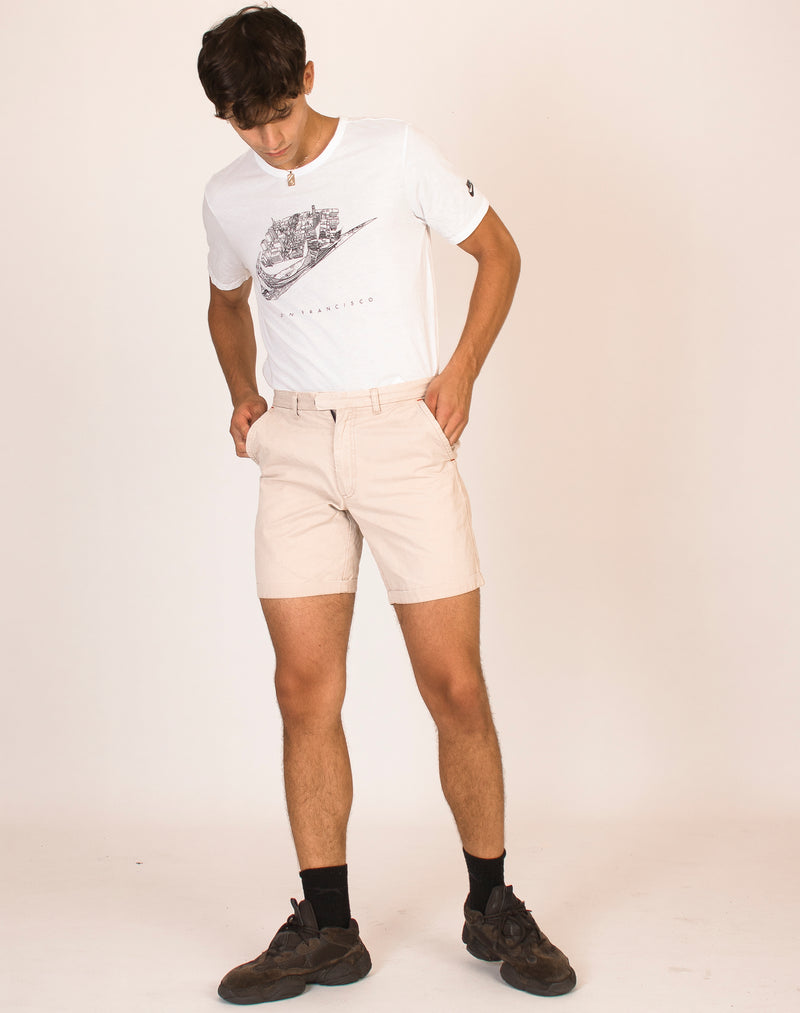 FRED PERRY BEIGE TAILORED SHORTS