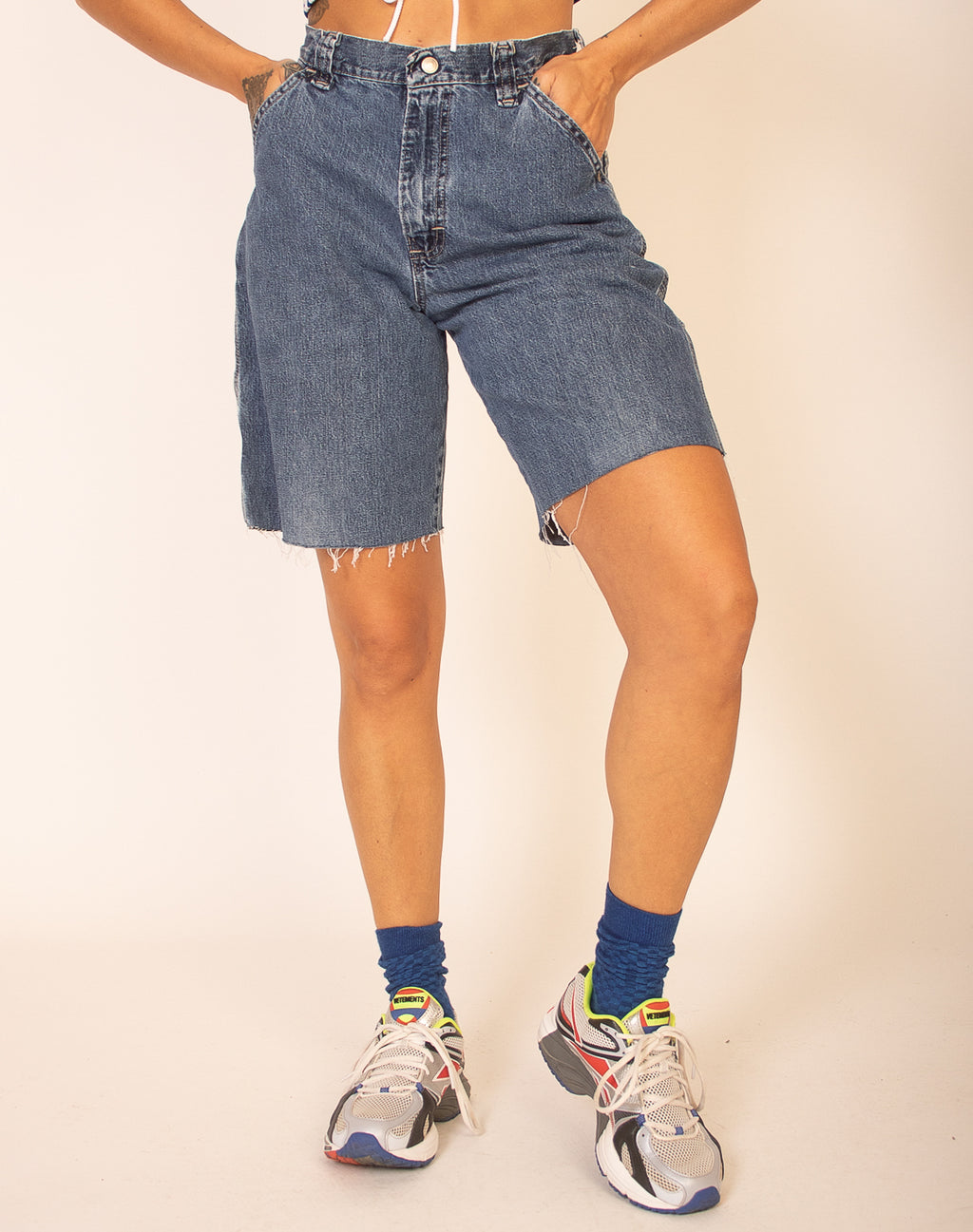 DENIM SKATER SHORTS