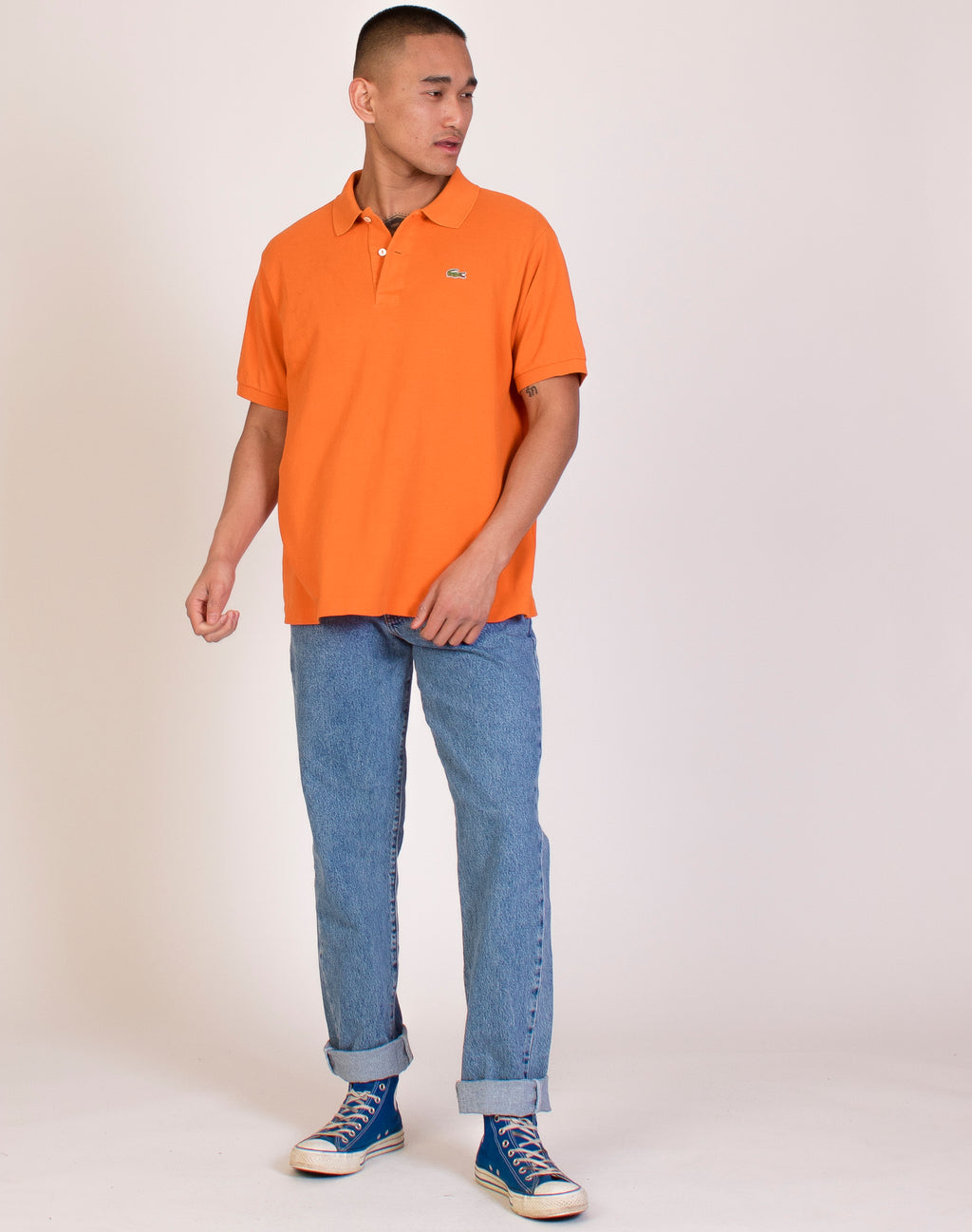 LACOSTE OVERSIZED ORANGE POLO SHIRT