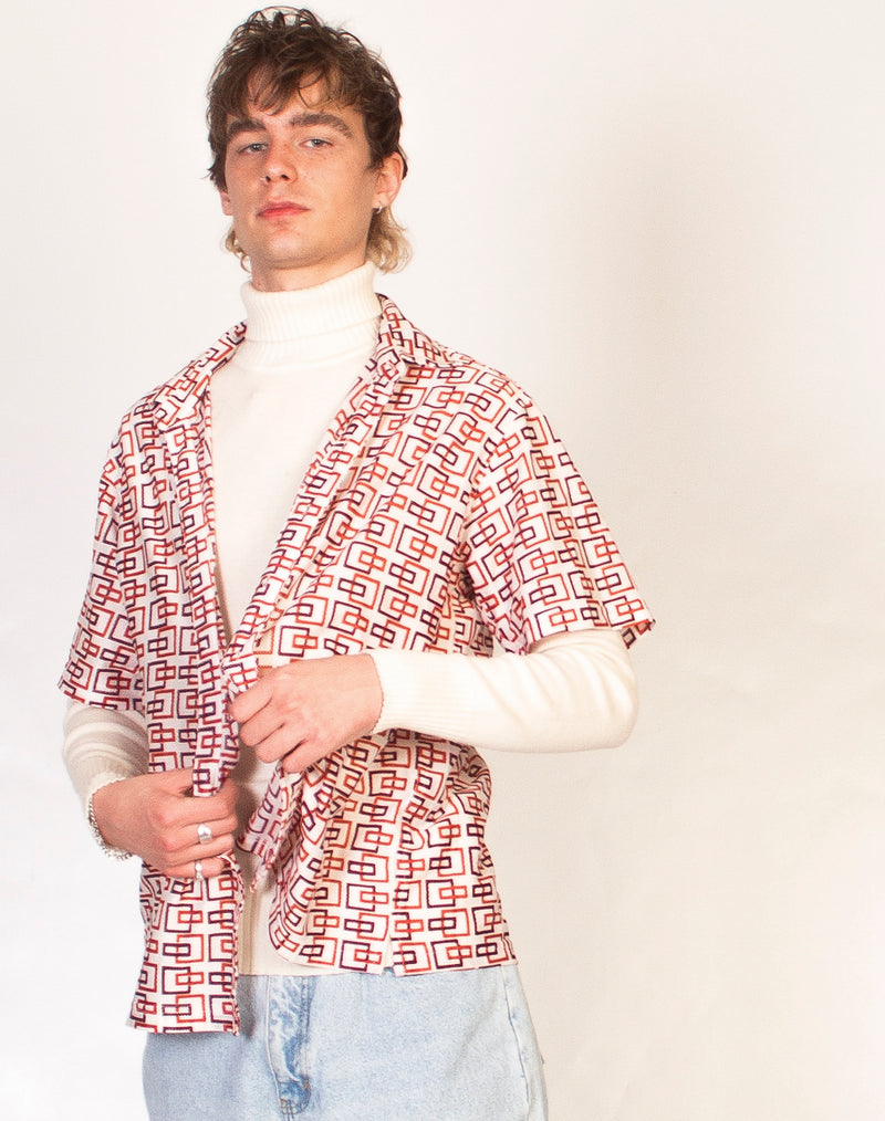 CUBIST GRAPHIC 70S MESH SHIRT