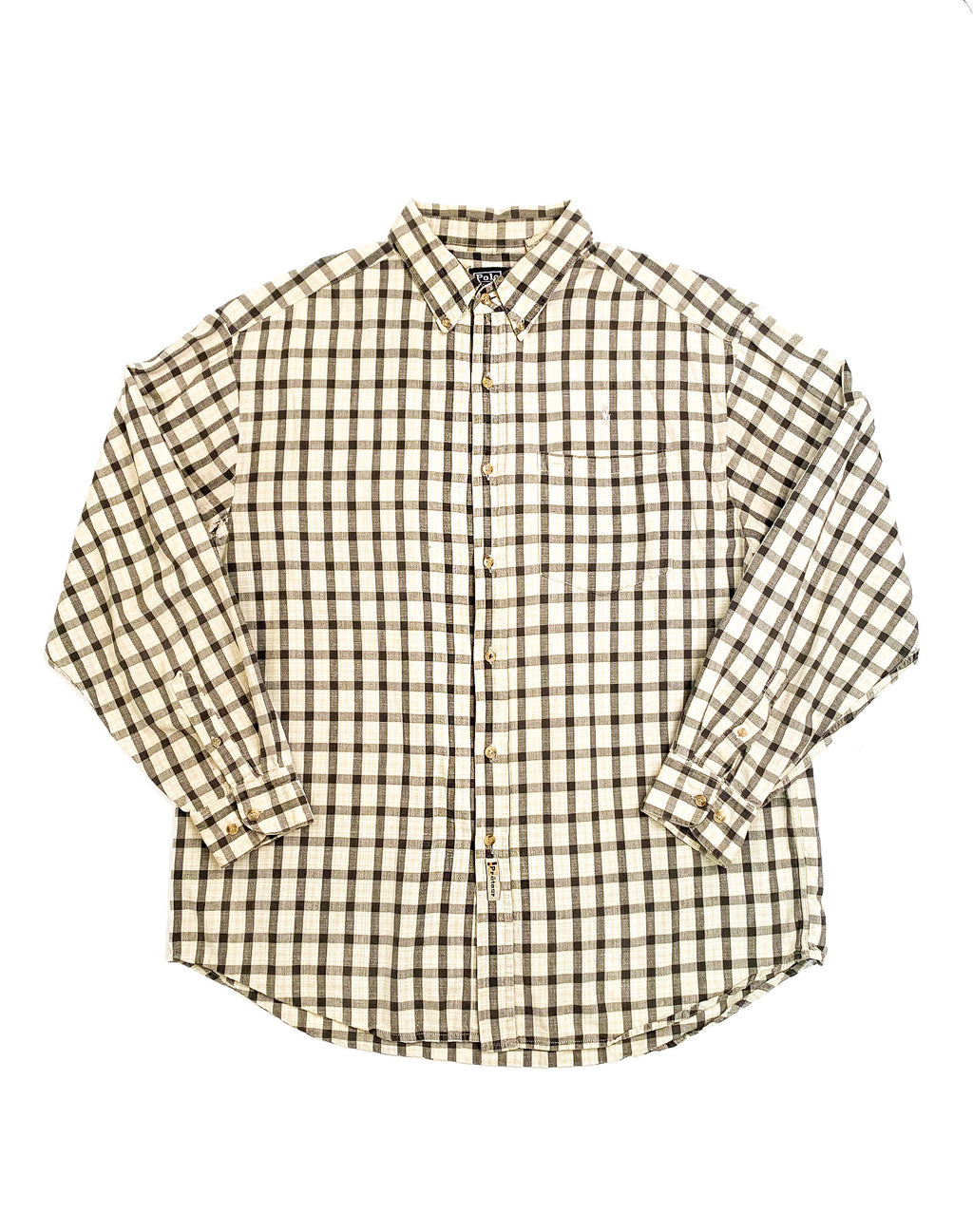RALPH LAUREN MONOCHROME CHECK SHIRT