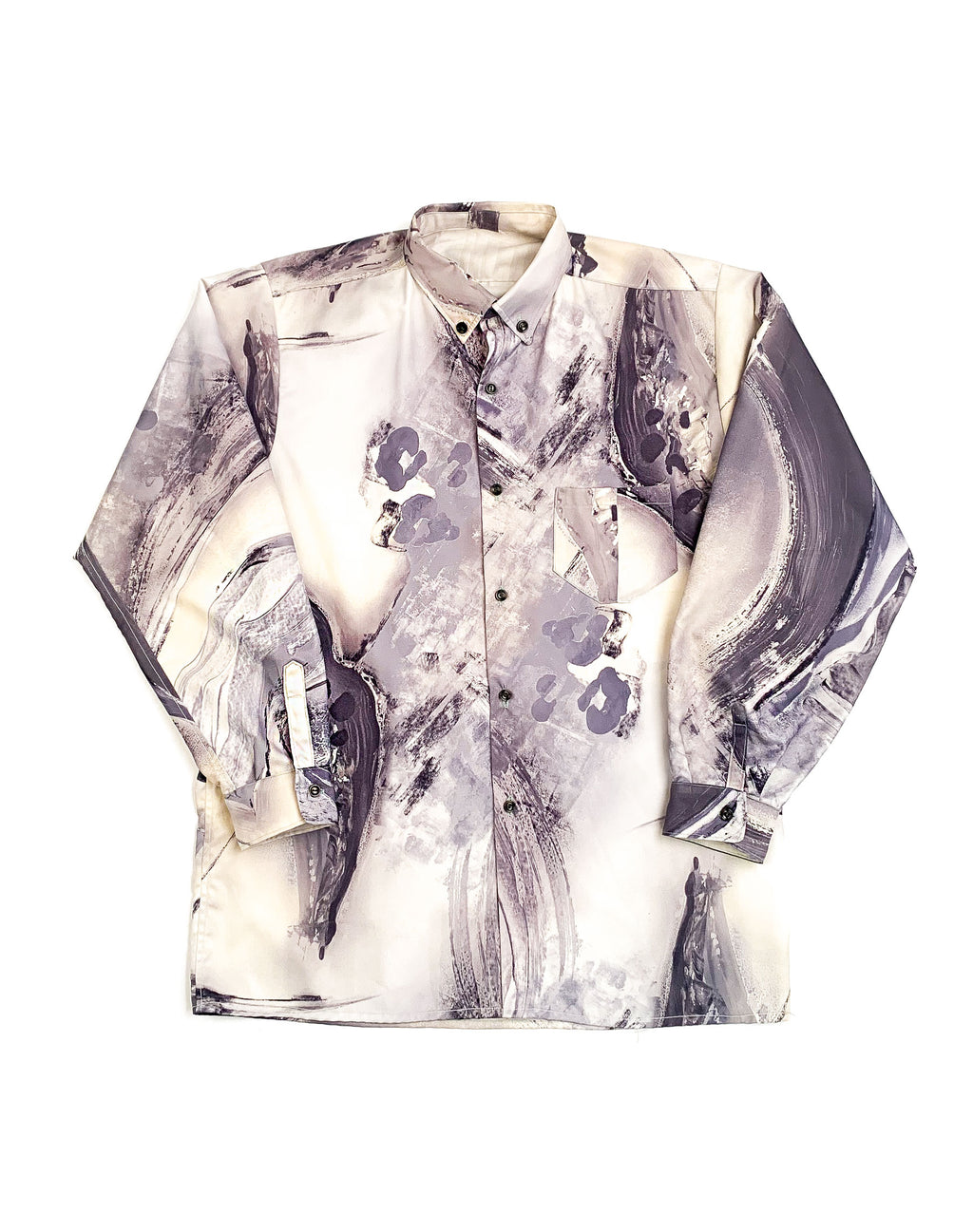 GREY MARBLE ABSTRACT SHIRT