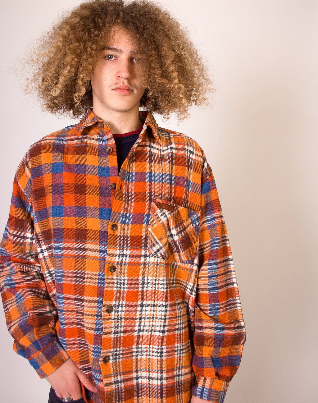 MARLBORO ORANGE FLANNEL SHIRT